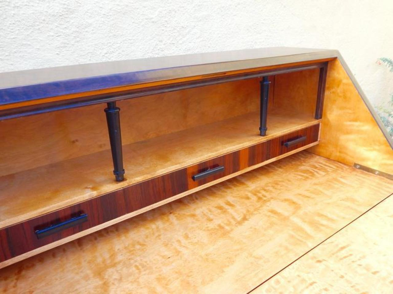 Swedish Art Deco Drop-Front Desk by Ferdinand Lundquist ...
