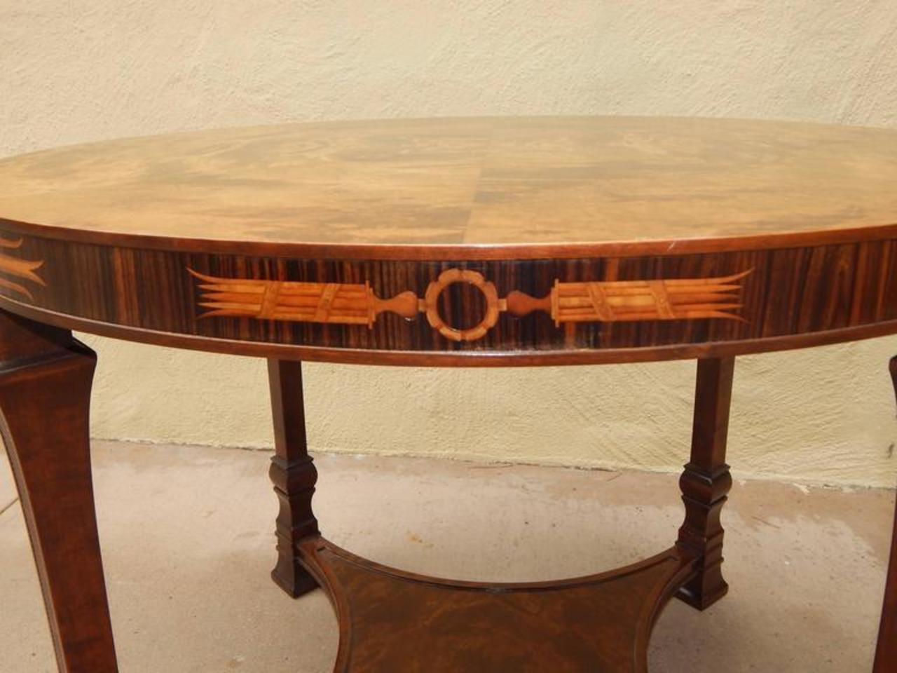 Swedish Art Deco Inlaid Table-Carl Malmsten for Smf, circa ...