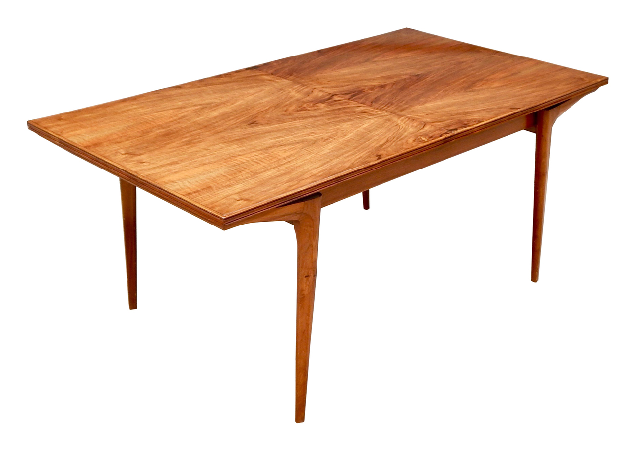 Image of: Argentine Mid Century Modern Extendable Dining Table In Highly Figured Walnut Circa 1950 Andrew Wilder Gallery